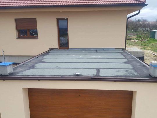 Hydroizolace střechy garáže Kly