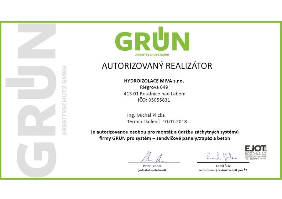 Grun certifikát